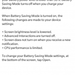 Battery saving mode