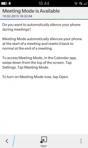 Meeting mode setting