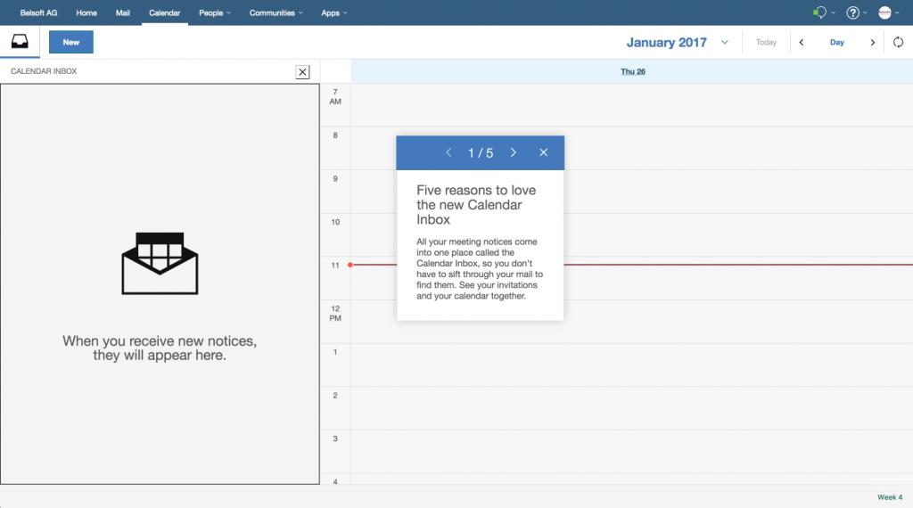 IBM Verse Calendar Inbox 1