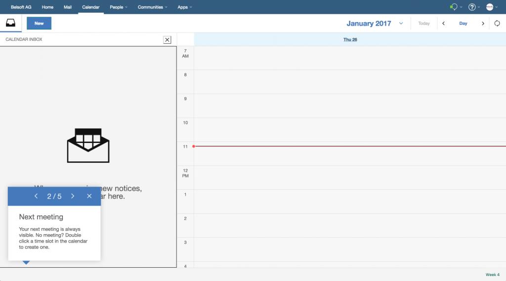 IBM Verse Calendar Inbox 2
