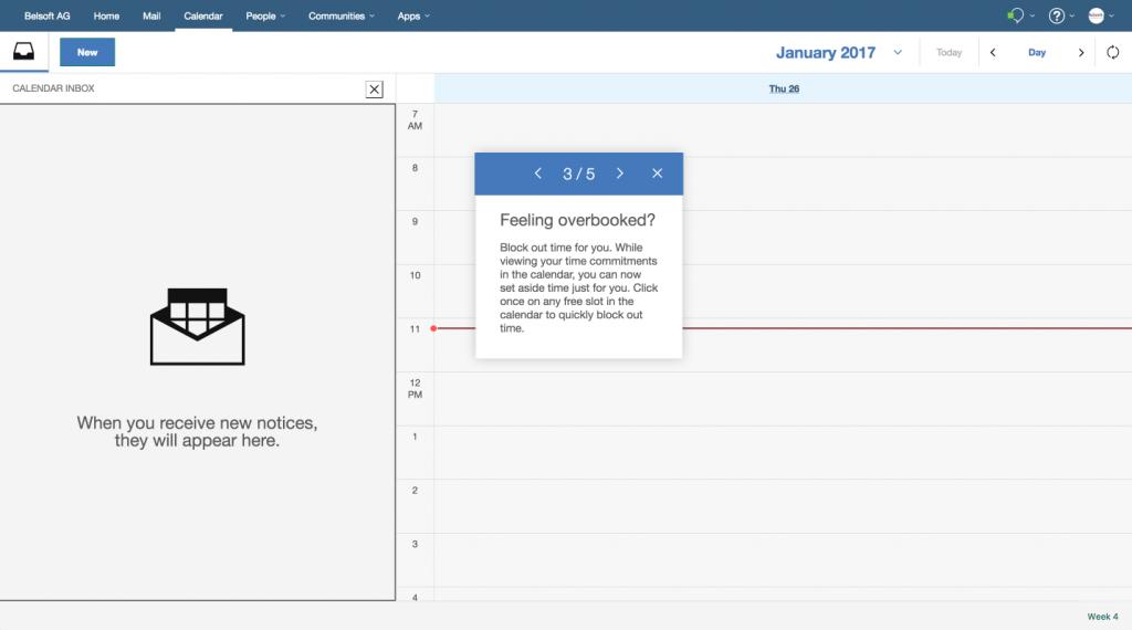 IBM Verse Calendar Inbox 3