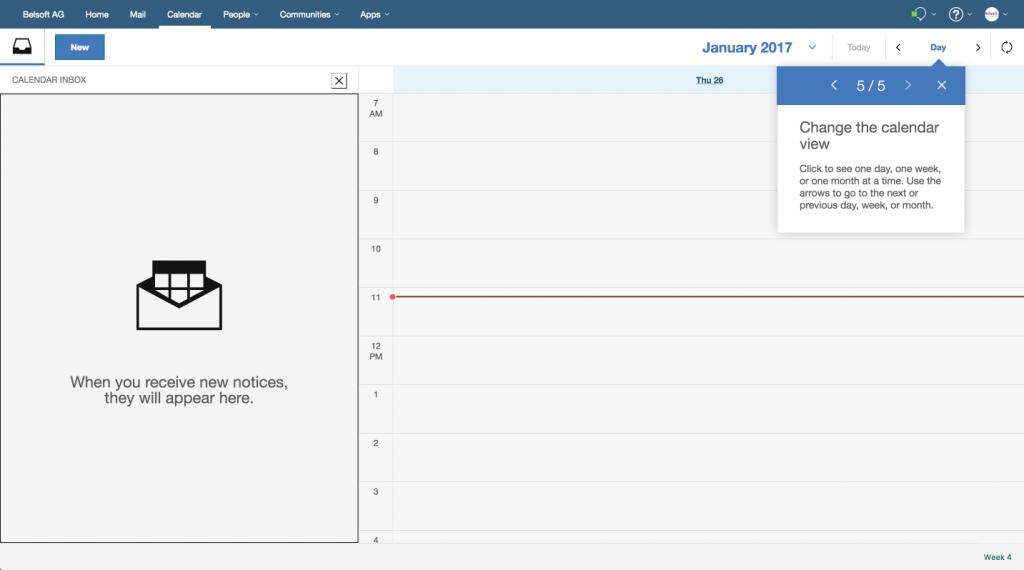 IBM Verse Calendar Inbox 5