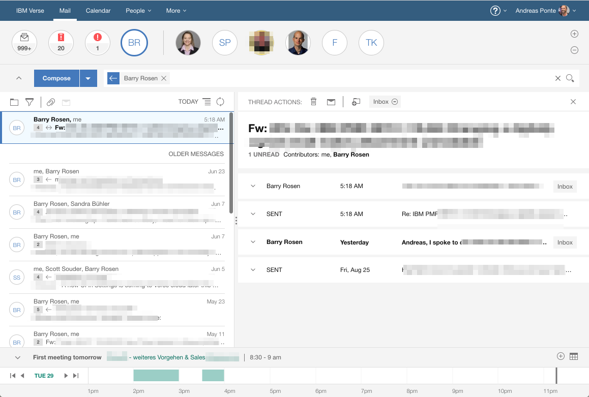 IBM Verse on Premises Inbox